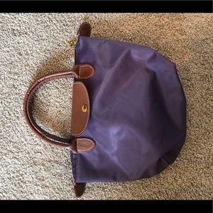 Long Champ small purple bag